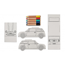 MINI Colouring Car Set - Çocuk Boya Seti
