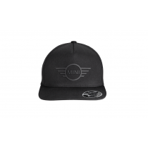 MINI Cap Wing Logo Flat Peak Black